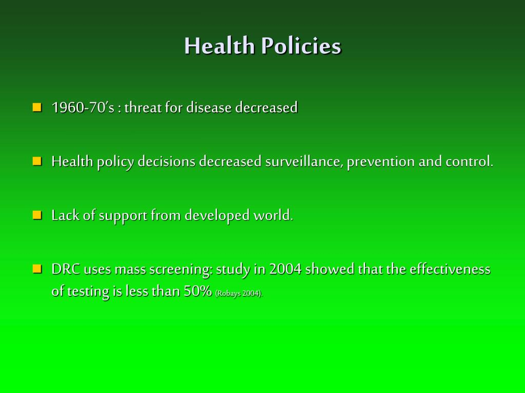 Health Policies