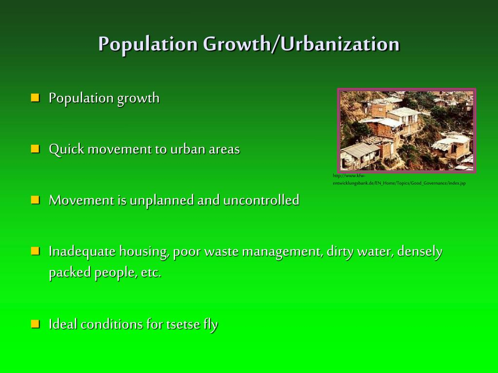 Population Growth/Urbanization