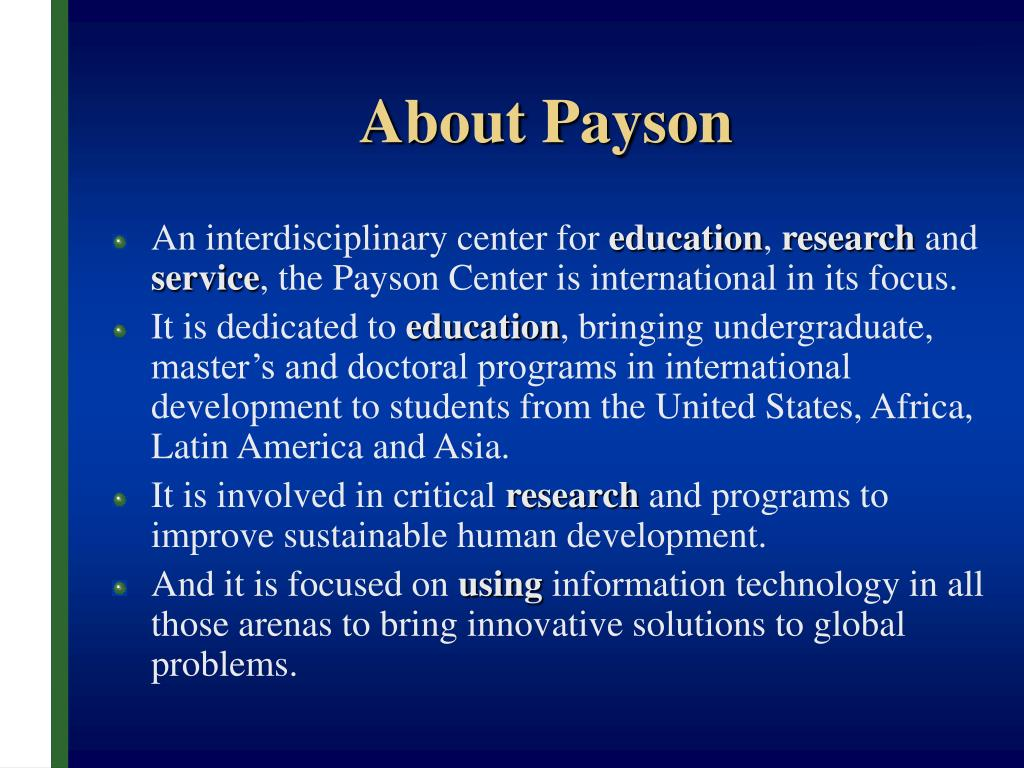 About Payson