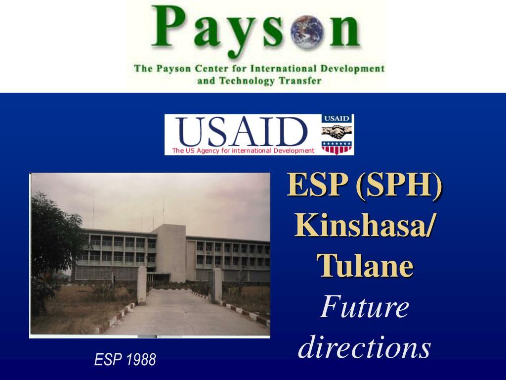 ESP (SPH) Kinshasa/Tulane