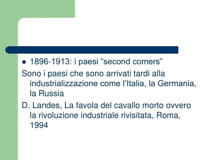 "1896-1913: i paesi ""second comers"""