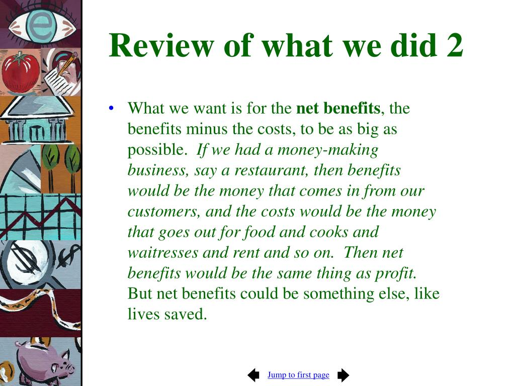 Review of what we did 2