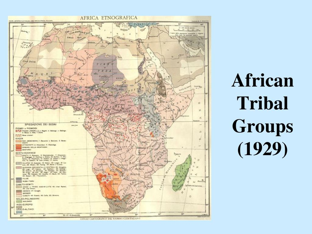African Tribal Groups (1929)