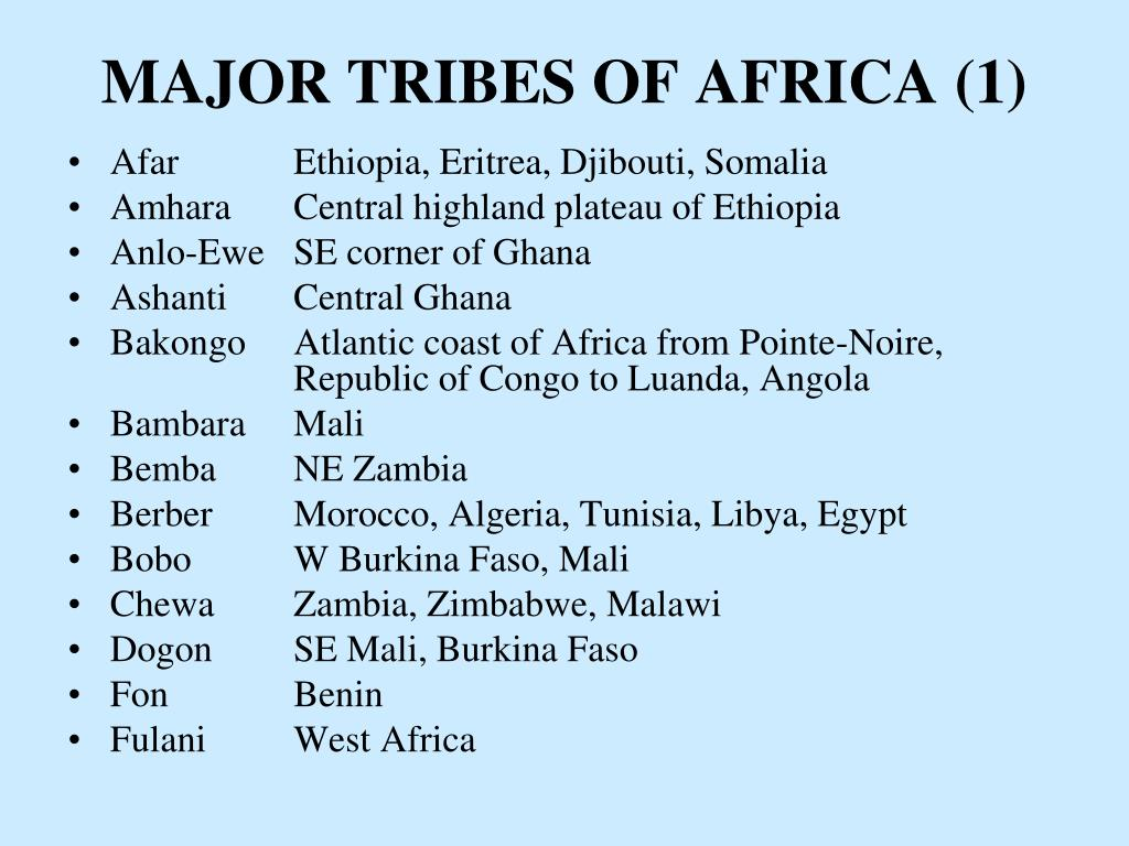MAJOR TRIBES OF AFRICA (1)