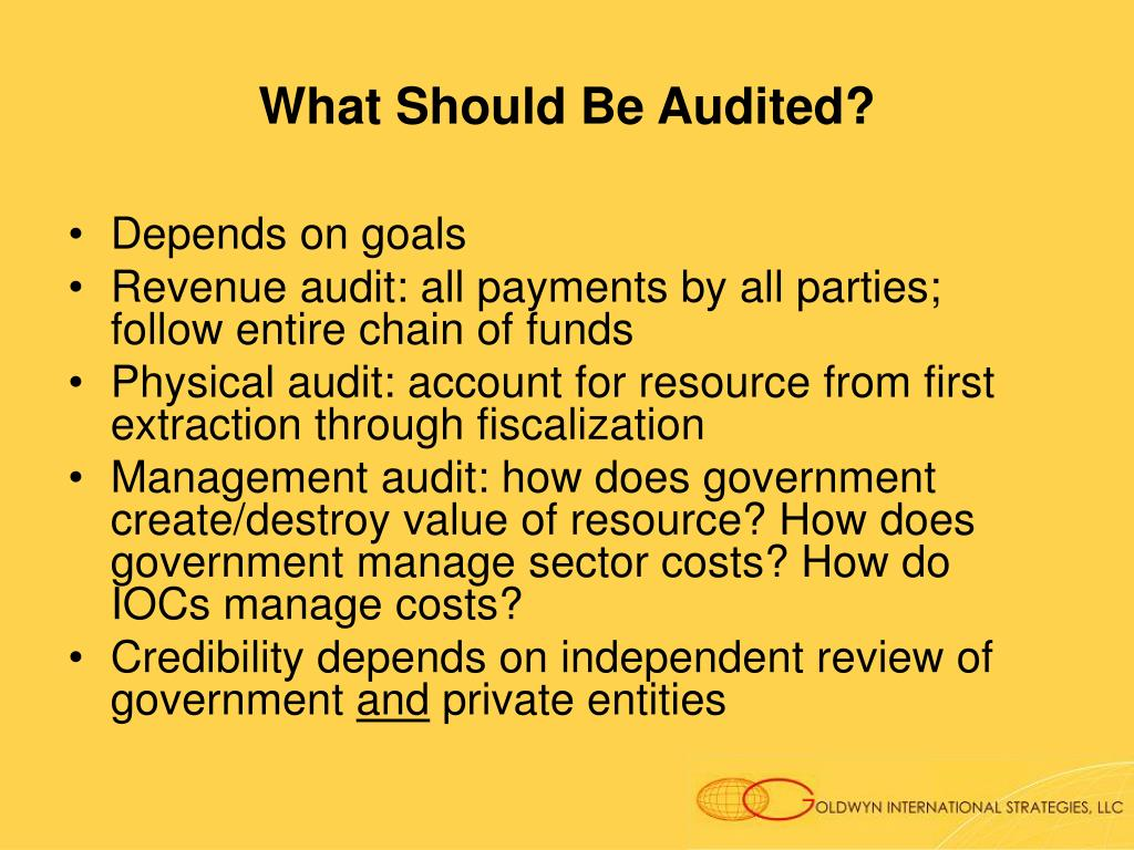 What Should Be Audited?