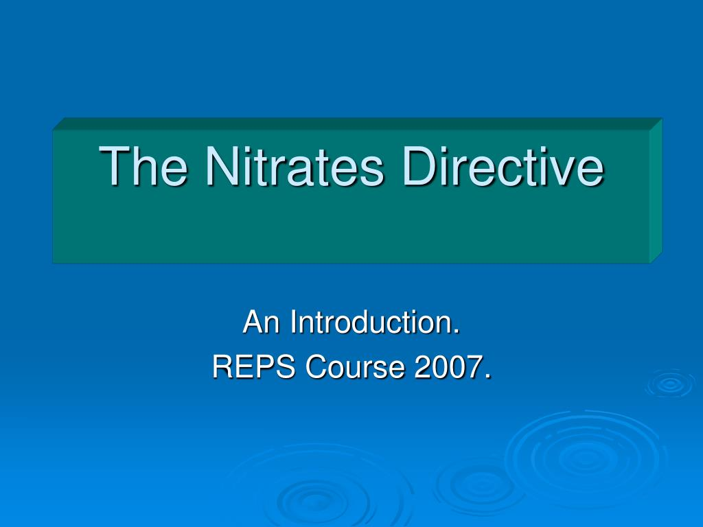 the nitrates directive