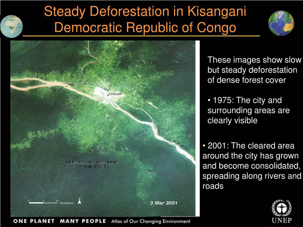 Steady Deforestation in Kisangani