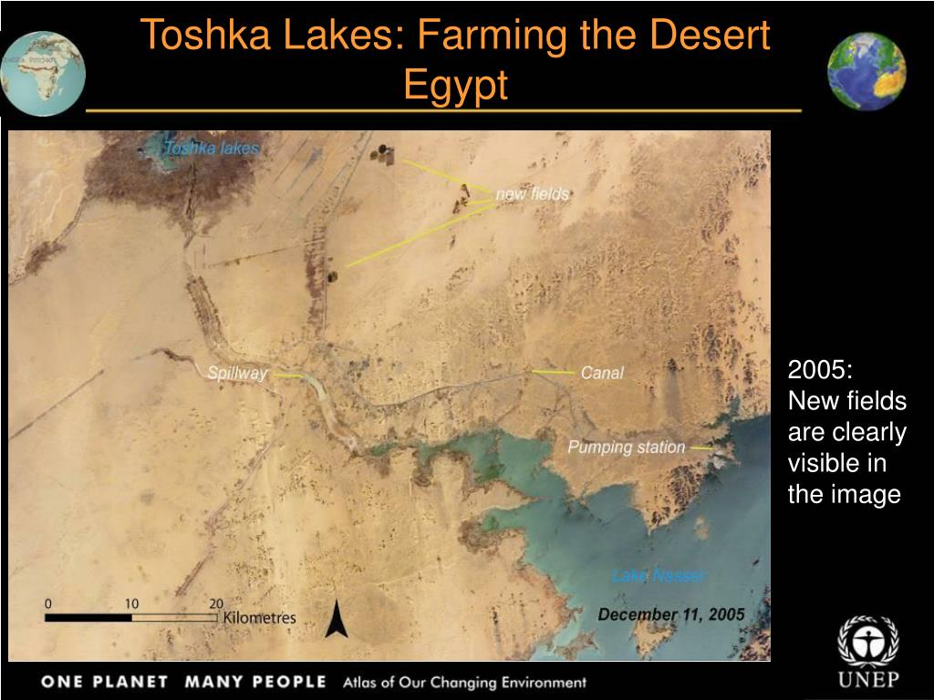 Toshka Lakes: Farming the Desert