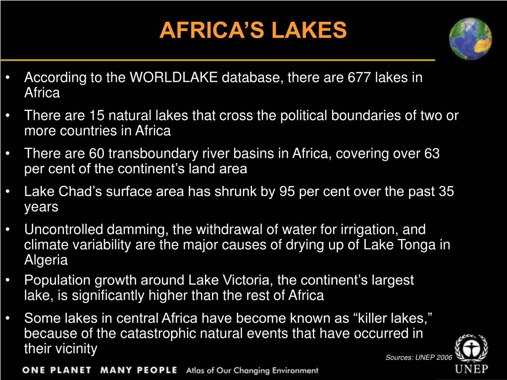 AFRICA'S LAKES