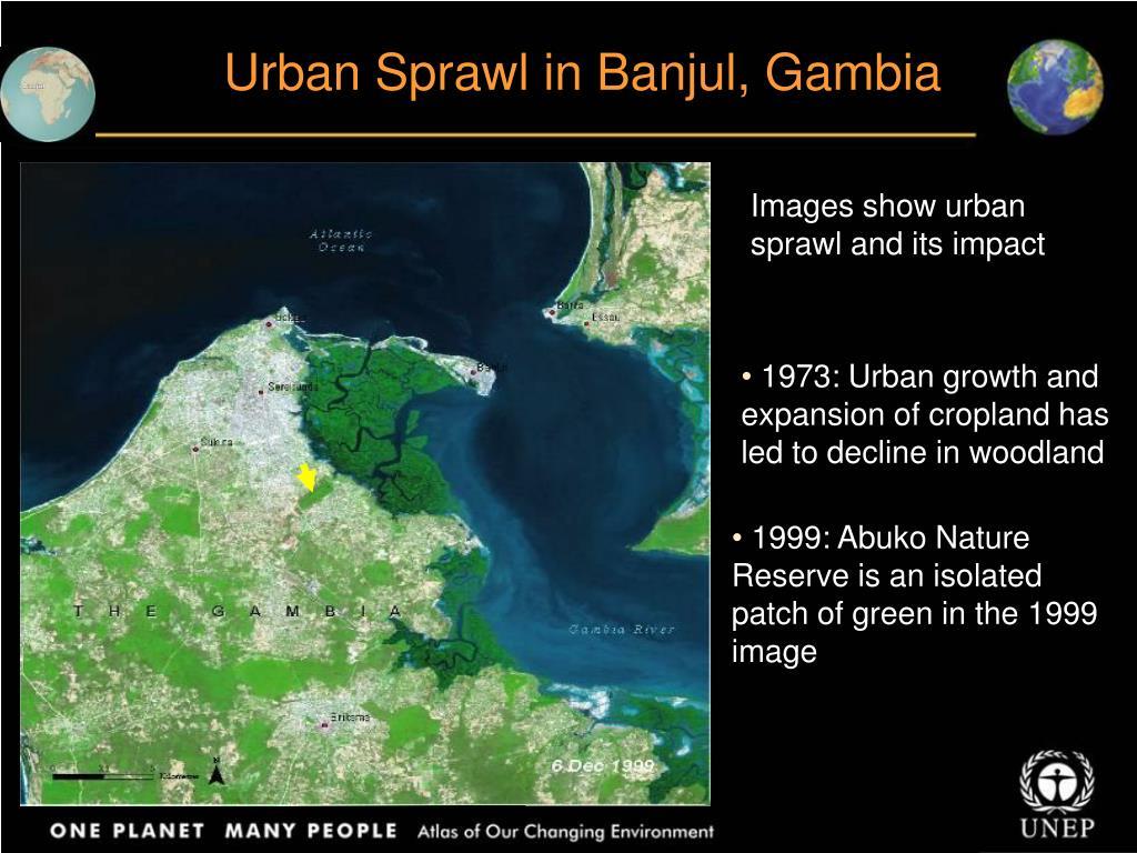 Urban Sprawl in Banjul, Gambia
