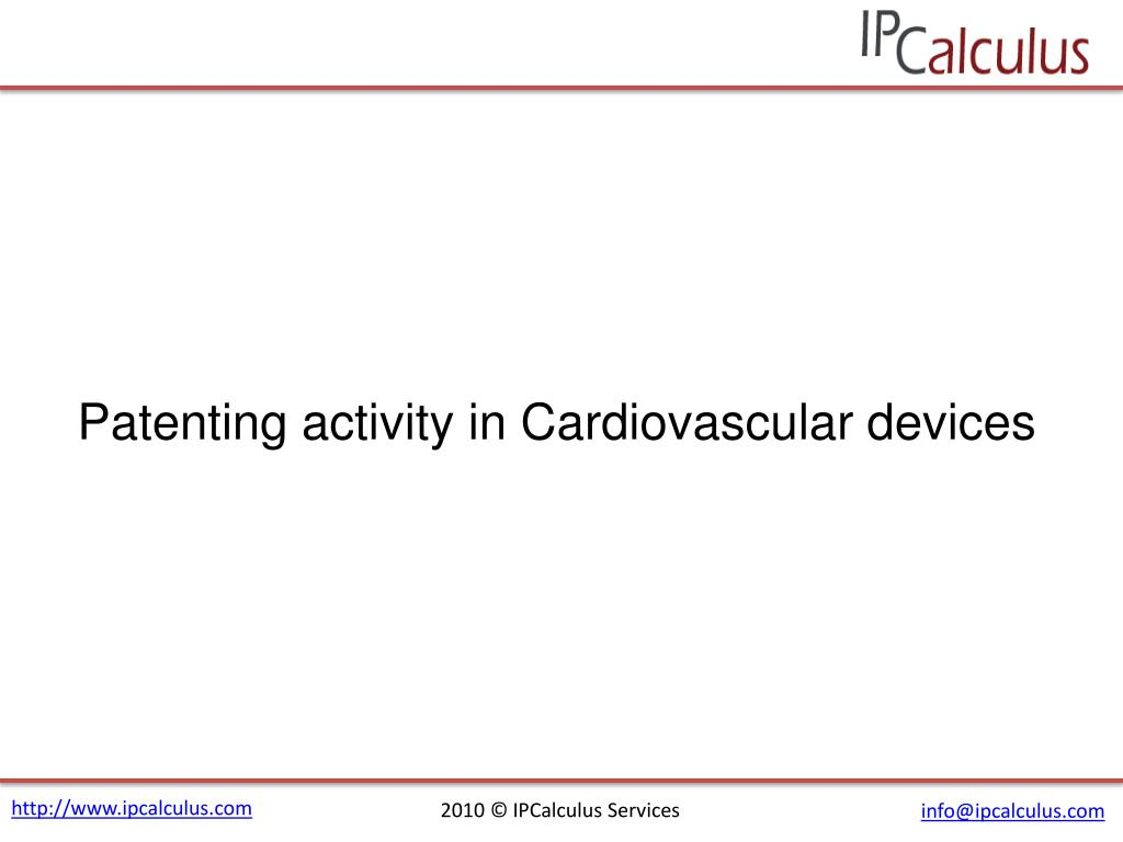 Patenting activity in Cardiovascular devices