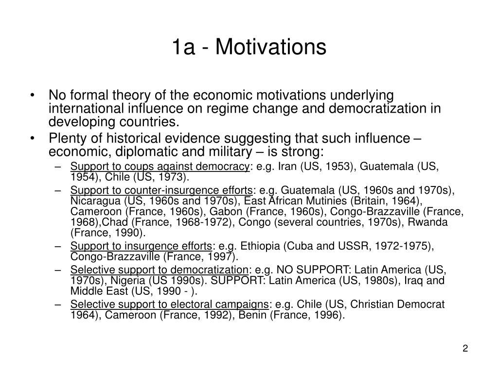 1a - Motivations