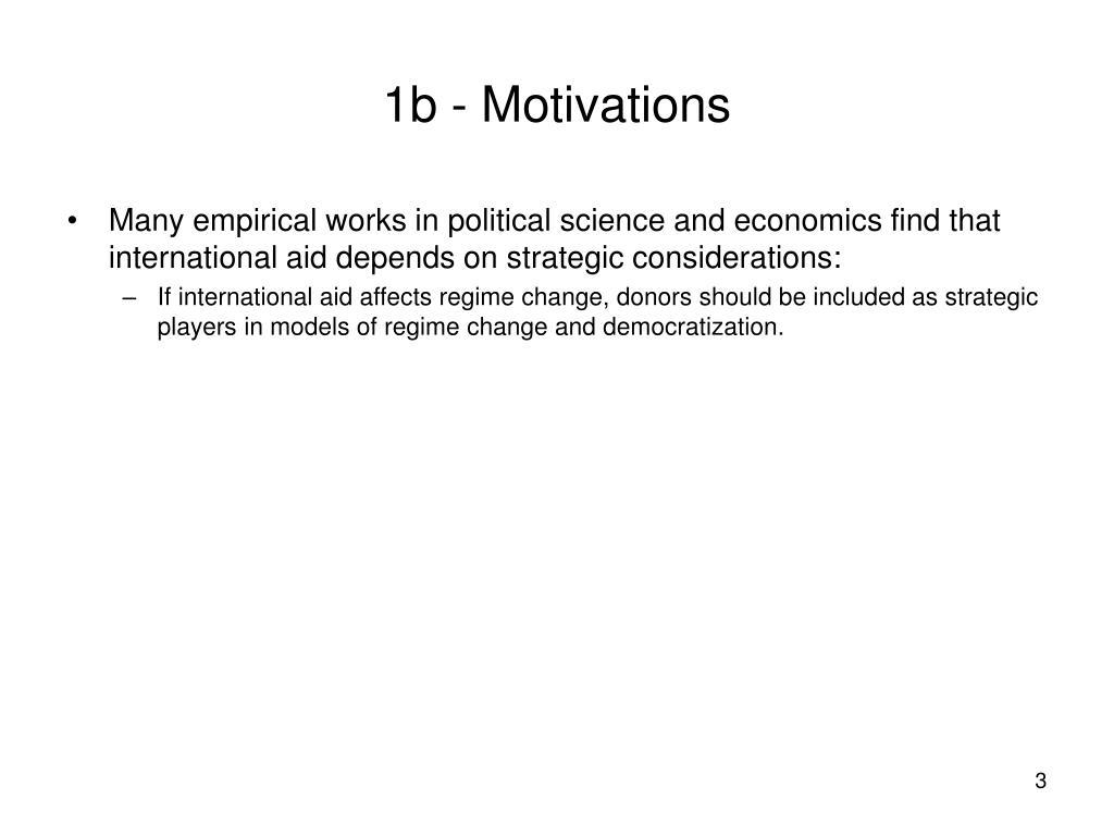 1b - Motivations