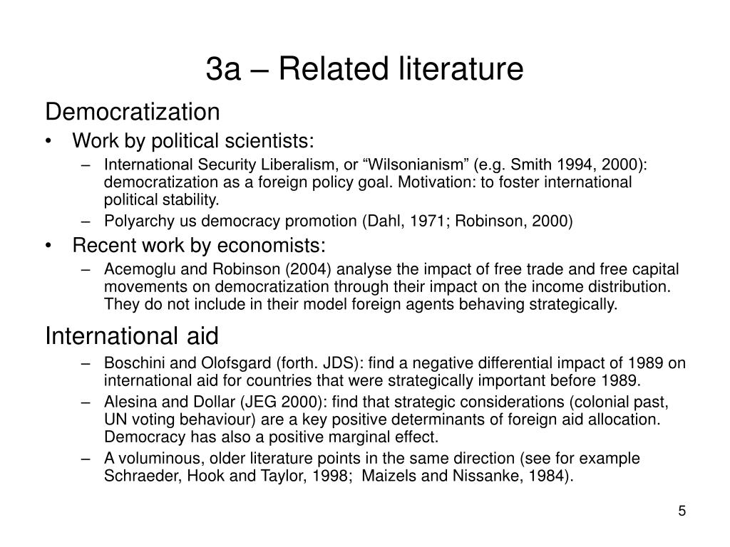 3a – Related literature