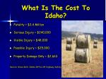 what is the cost to idaho