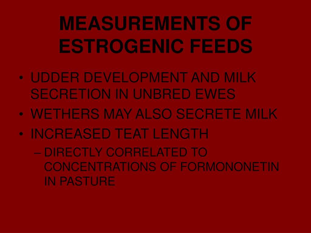 MEASUREMENTS OF ESTROGENIC FEEDS