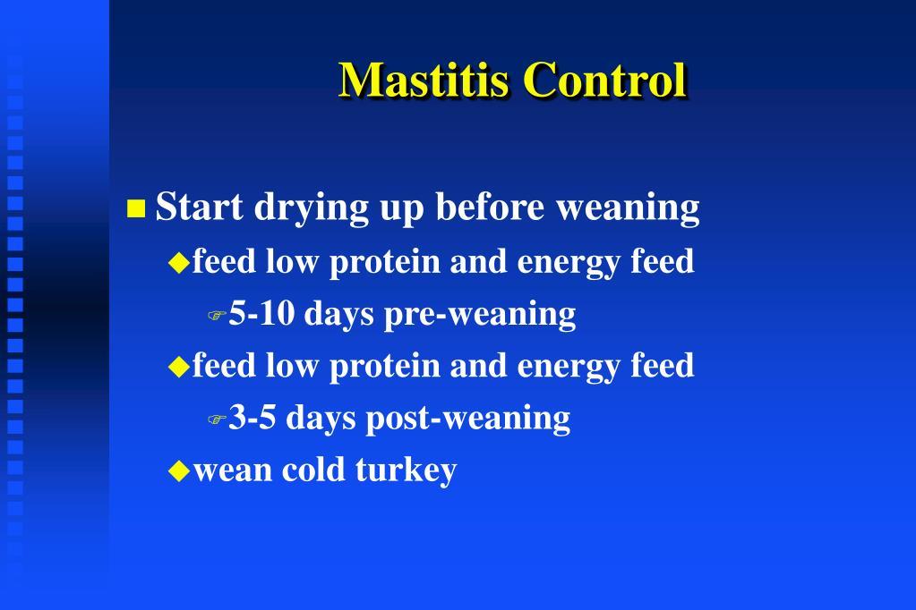 Mastitis Control
