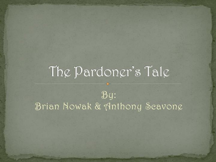 Anyone who read the pardoner's tale?