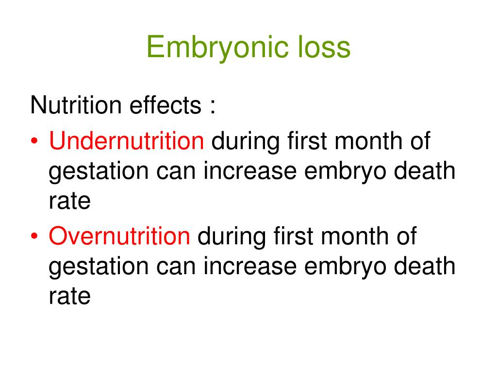 Embryonic loss