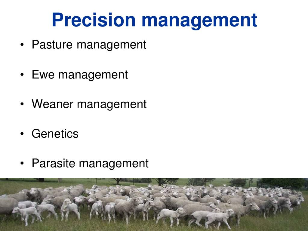 Precision management