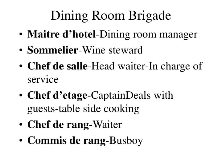 Definition of dining room manager 28 images for Dining room meaning