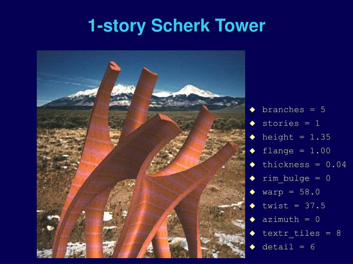 1-story Scherk Tower