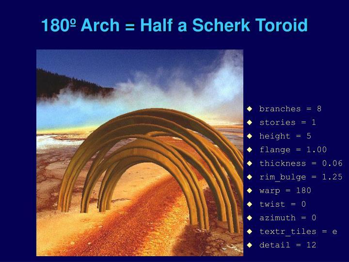 180º Arch = Half a Scherk Toroid