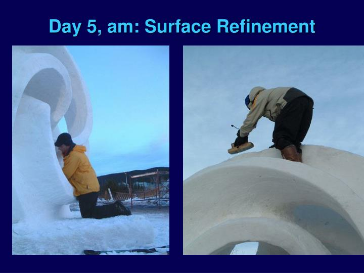 Day 5, am: Surface Refinement