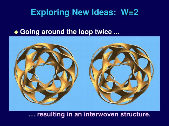 Exploring New Ideas:  W=2
