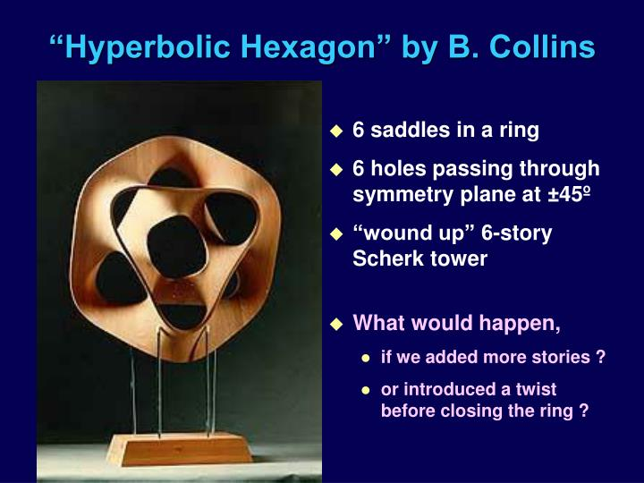 """Hyperbolic Hexagon"" by B. Collins"