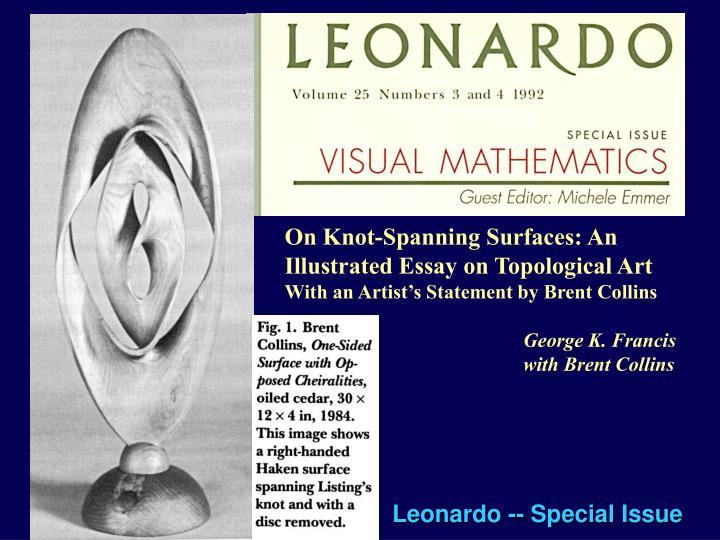 Leonardo -- Special Issue