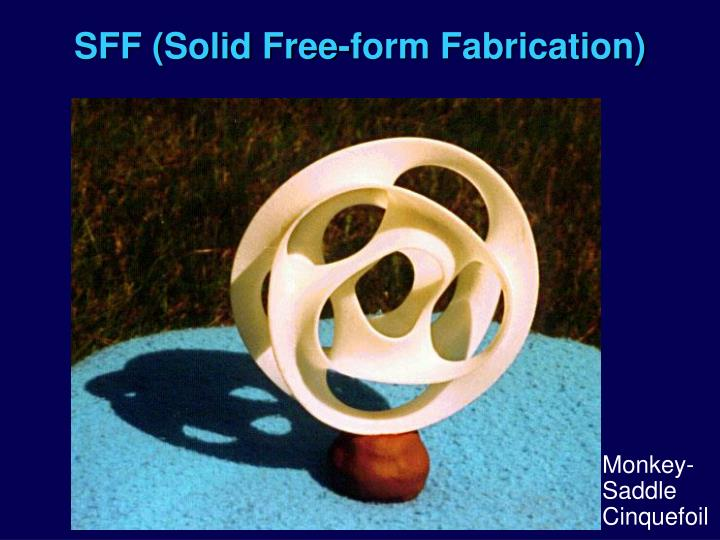 SFF (Solid Free-form Fabrication)