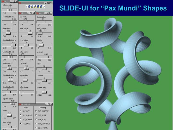 "SLIDE-UI for ""Pax Mundi"" Shapes"