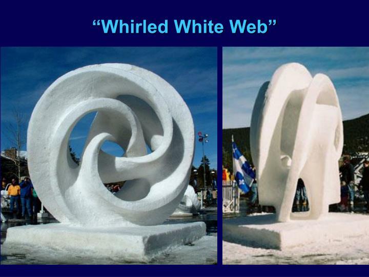 """""""Whirled White Web"""""""
