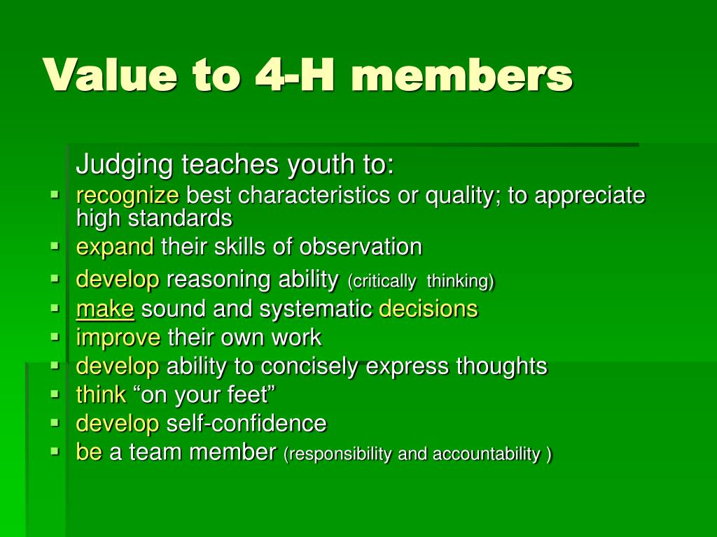 Value to 4-H members