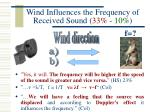 wind influences the frequency of received sound 33 10