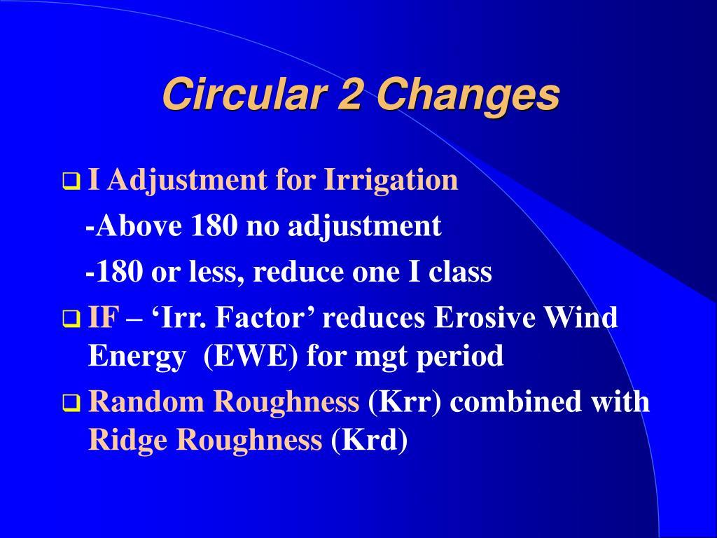 Circular 2 Changes