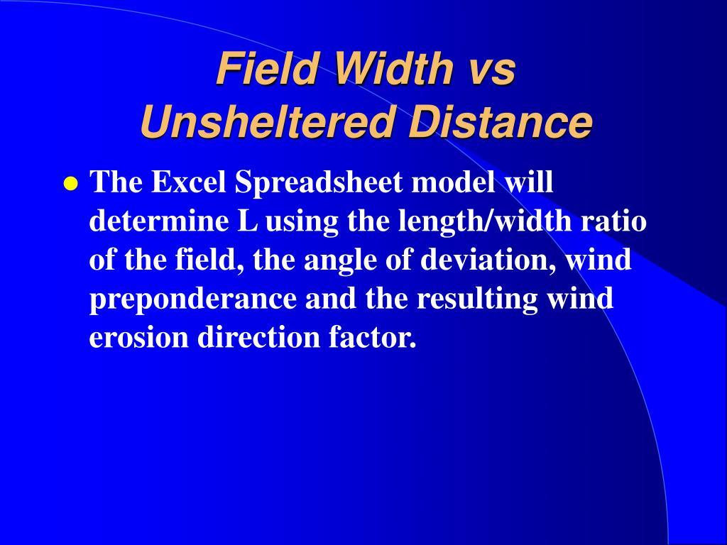 Field Width vs