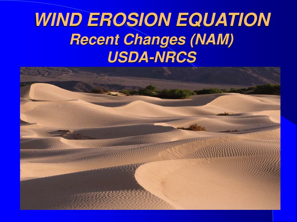wind erosion equation recent changes nam usda nrcs