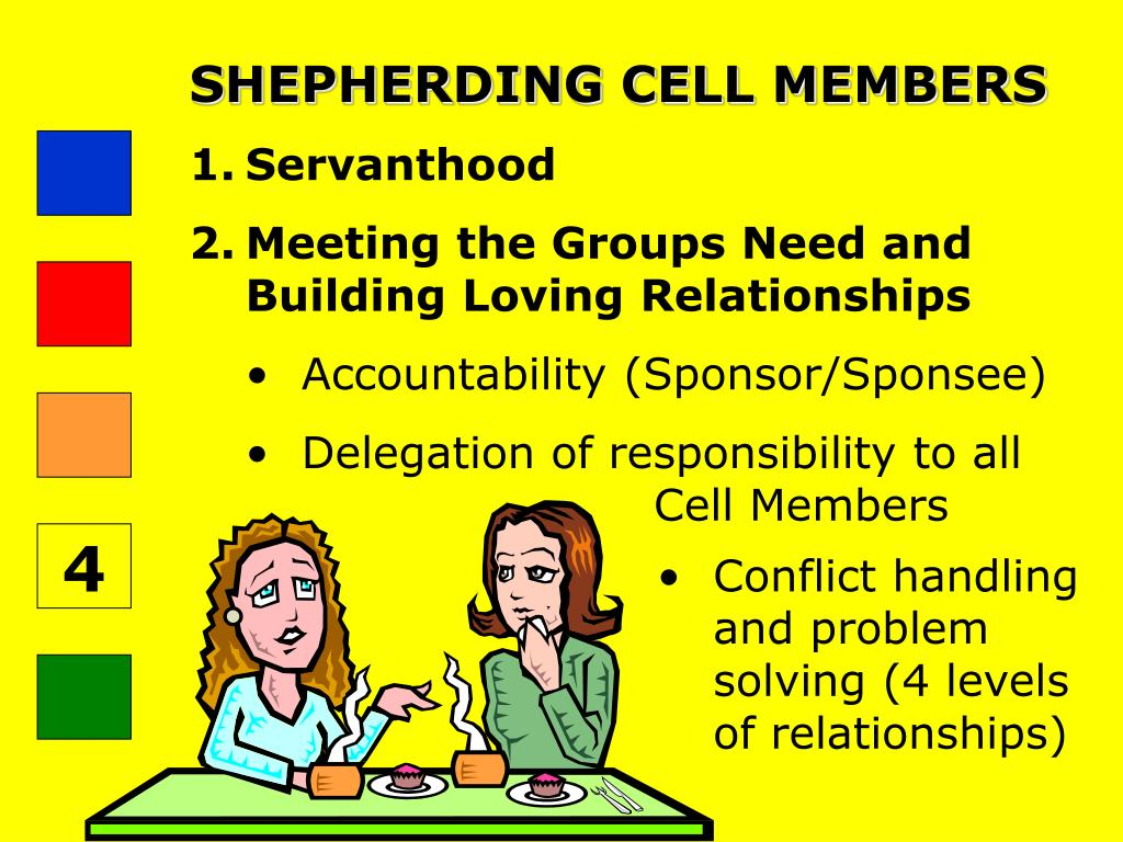 SHEPHERDING CELL MEMBERS