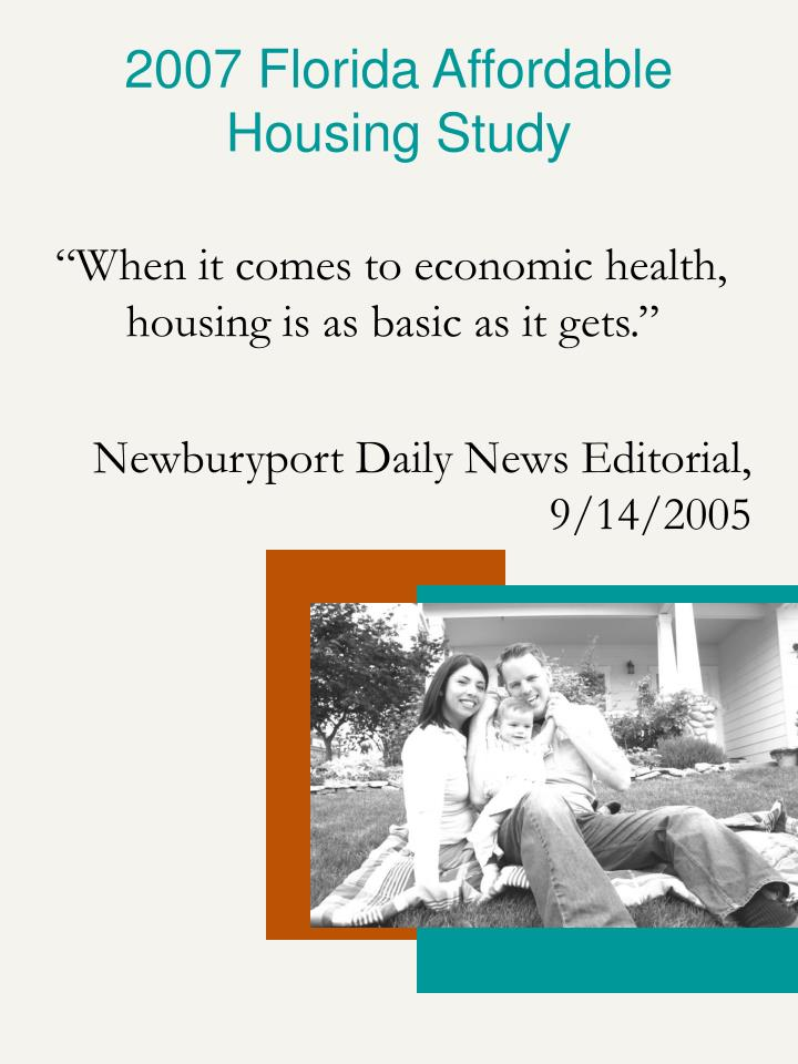 2007 Florida Affordable Housing Study