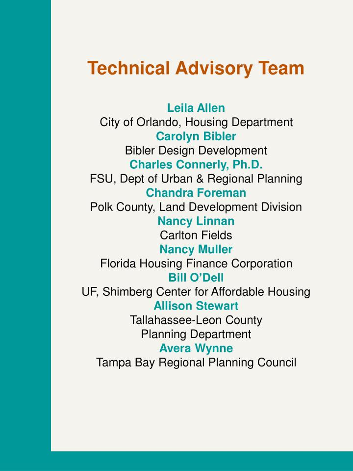 Technical Advisory Team