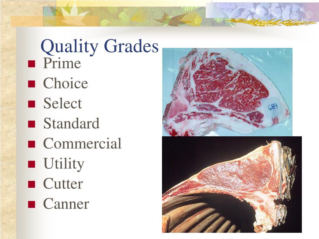 Quality Grades
