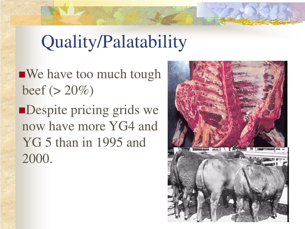 Quality/Palatability