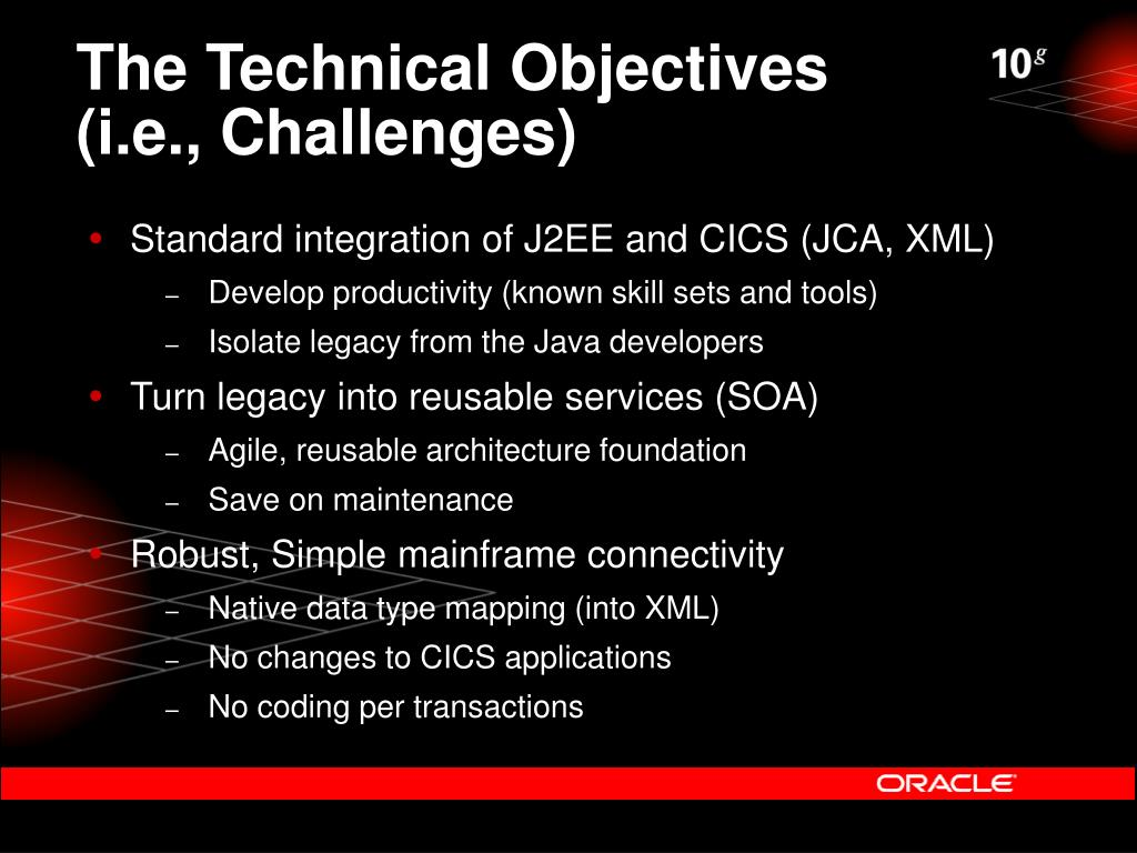 The Technical Objectives