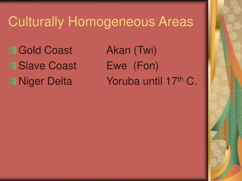 Culturally Homogeneous Areas