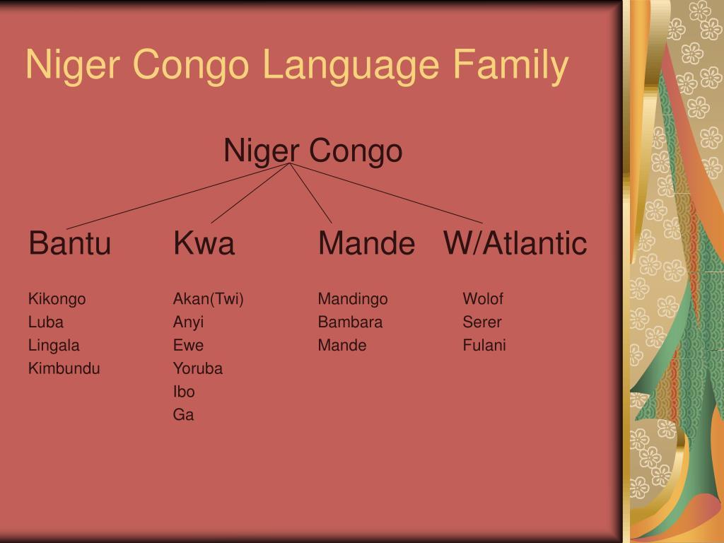 Niger Congo Language Family