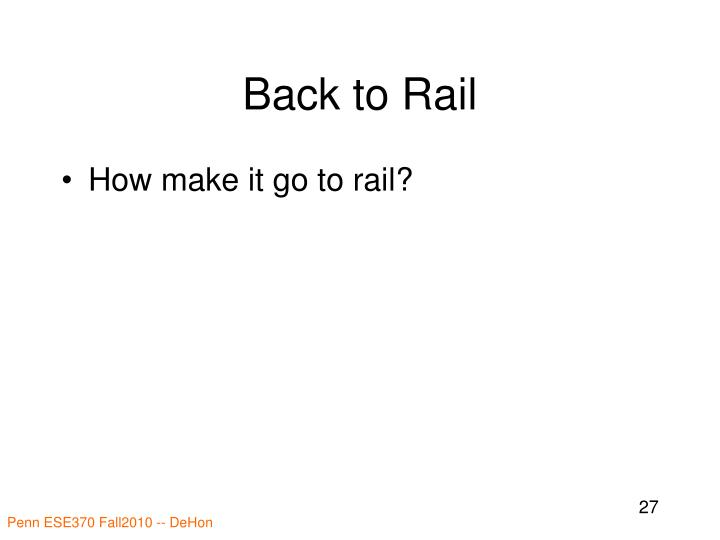 Back to Rail