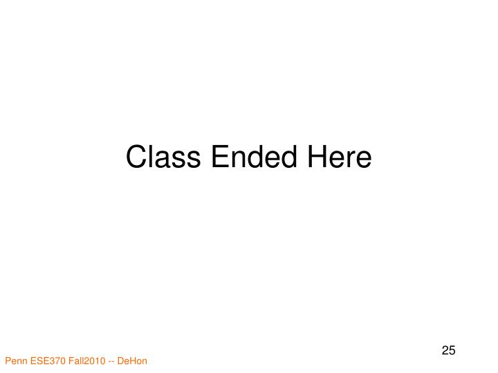 Class Ended Here
