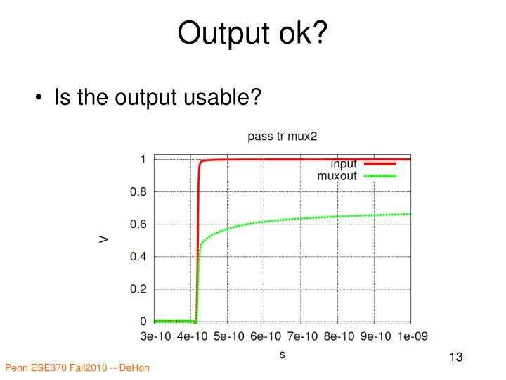 Output ok?
